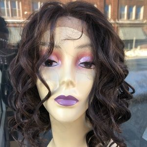 Fulllace full lace short curly wig handstitch 2019